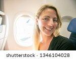 the passenger traveler in...   Shutterstock . vector #1346104028