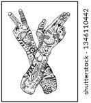 vintage arms symbol. printing...   Shutterstock . vector #1346110442