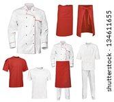 Set White Red Chef - Fine Art prints