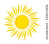 sun icon. vector illustration... | Shutterstock .eps vector #134611856