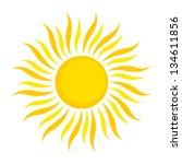 Sun Icon. Vector Illustration...