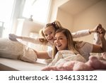 rise and shine. mother and... | Shutterstock . vector #1346133122