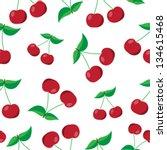 cherry seamless vector pattern   Shutterstock .eps vector #134615468