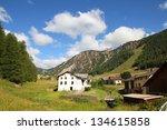 switzerland   tschierv  town in ... | Shutterstock . vector #134615858