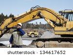 building worker directing... | Shutterstock . vector #134617652