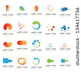 abstract icons   set   isolated ... | Shutterstock .eps vector #134617736