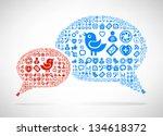 social media concept. cloud... | Shutterstock .eps vector #134618372