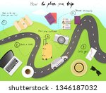 travel infographics. plan your...   Shutterstock .eps vector #1346187032