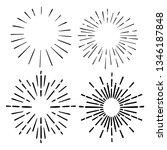 doodle sunburst. hand drawn... | Shutterstock .eps vector #1346187848