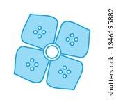 illustration  flower icon    Shutterstock . vector #1346195882