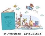illustration of an open... | Shutterstock .eps vector #1346231585