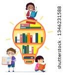 illustration of stickman kids... | Shutterstock .eps vector #1346231588