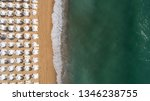 top down view of beach with... | Shutterstock . vector #1346238755