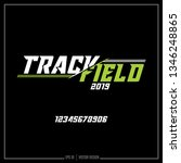 track and field  american track ... | Shutterstock .eps vector #1346248865