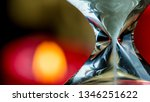 Close-up of an hourglass. Concept tearing time. - stock photo