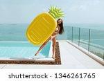 summer fun. happy girl near...   Shutterstock . vector #1346261765