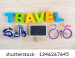 top view vacation and holiday...   Shutterstock . vector #1346267645