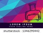 vector illustration rainbow...   Shutterstock .eps vector #1346290442