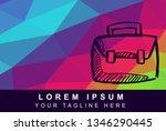 vector illustration rainbow...   Shutterstock .eps vector #1346290445