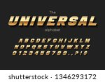 vector gold font and alphabet.... | Shutterstock .eps vector #1346293172