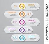 5 steps timeline infographic... | Shutterstock .eps vector #1346308565