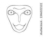 cartoon face. contour face...   Shutterstock .eps vector #1346322122