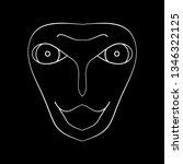 cartoon face. contour face...   Shutterstock .eps vector #1346322125