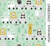 children s seamless pattern... | Shutterstock .eps vector #1346338862
