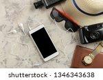 travel concept smartphone ...   Shutterstock . vector #1346343638