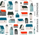 various small tiny houses.... | Shutterstock .eps vector #1346346368