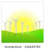 green energy vector background | Shutterstock .eps vector #134634782