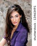 gorgeous fashion model closeup... | Shutterstock . vector #13463491