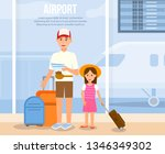 airport horizontal banner with...   Shutterstock .eps vector #1346349302