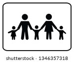 family icon on white background  | Shutterstock .eps vector #1346357318