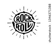 rock and roll sign. slogan... | Shutterstock .eps vector #1346371388