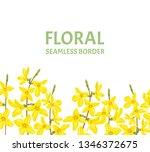 forsythia seamless border....   Shutterstock .eps vector #1346372675