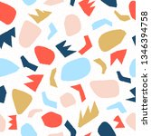 doodle geometric pattern. hand... | Shutterstock .eps vector #1346394758