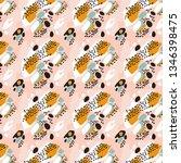 trendy pastel vector abstract... | Shutterstock .eps vector #1346398475