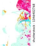 orange  pink  blue thick paint... | Shutterstock . vector #1346402768