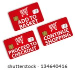 online shopping   set of icons... | Shutterstock . vector #134640416