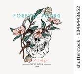 Skull With Flowers. Forever...