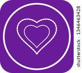 illustration heart love icon    Shutterstock . vector #1346463428
