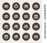 e mail icons   Shutterstock .eps vector #134646392