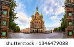 St. Petersburg. Russia. Panorama Cathedral of the Resurrection of Christ. Church of the Savior on Blood. Griboyedov Canal. Memorial monuments of St. Petersburg. Churches of Russia.