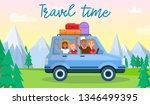 travel time horizontal banner.... | Shutterstock .eps vector #1346499395