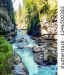 breitachklamm is a very popular ... | Shutterstock . vector #1346500382