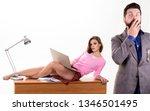 sexy personal secretary. full... | Shutterstock . vector #1346501495