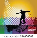 skateboarding. vector | Shutterstock .eps vector #134650862
