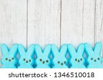 Blue Candy Bunnies On Weathered ...