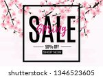 spring sale and discount promo... | Shutterstock . vector #1346523605